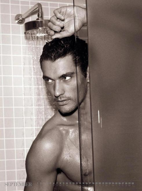 david gandy shower naked
