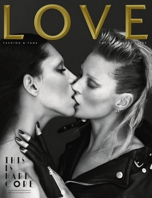 love magazine kate moss lea t kiss kissing