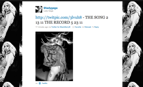 ADY GAGA MIDNIGHT BORN THIS WAY ANNOUNCEMENT NICK KNIGHT, SHOWSTUDIO