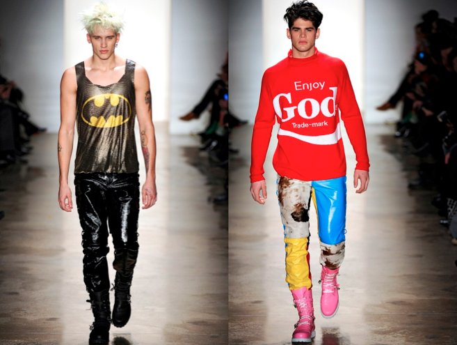 Another Fashion Homage To Pop Culture Jeremy Scott Aw11 Karl Is My Unkle