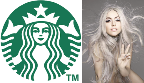 starbucks new logo lady gaga
