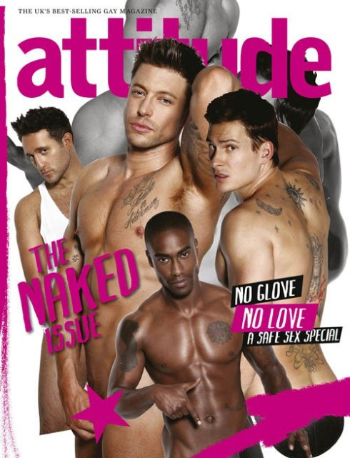 blue naked attitude magazine naked issue