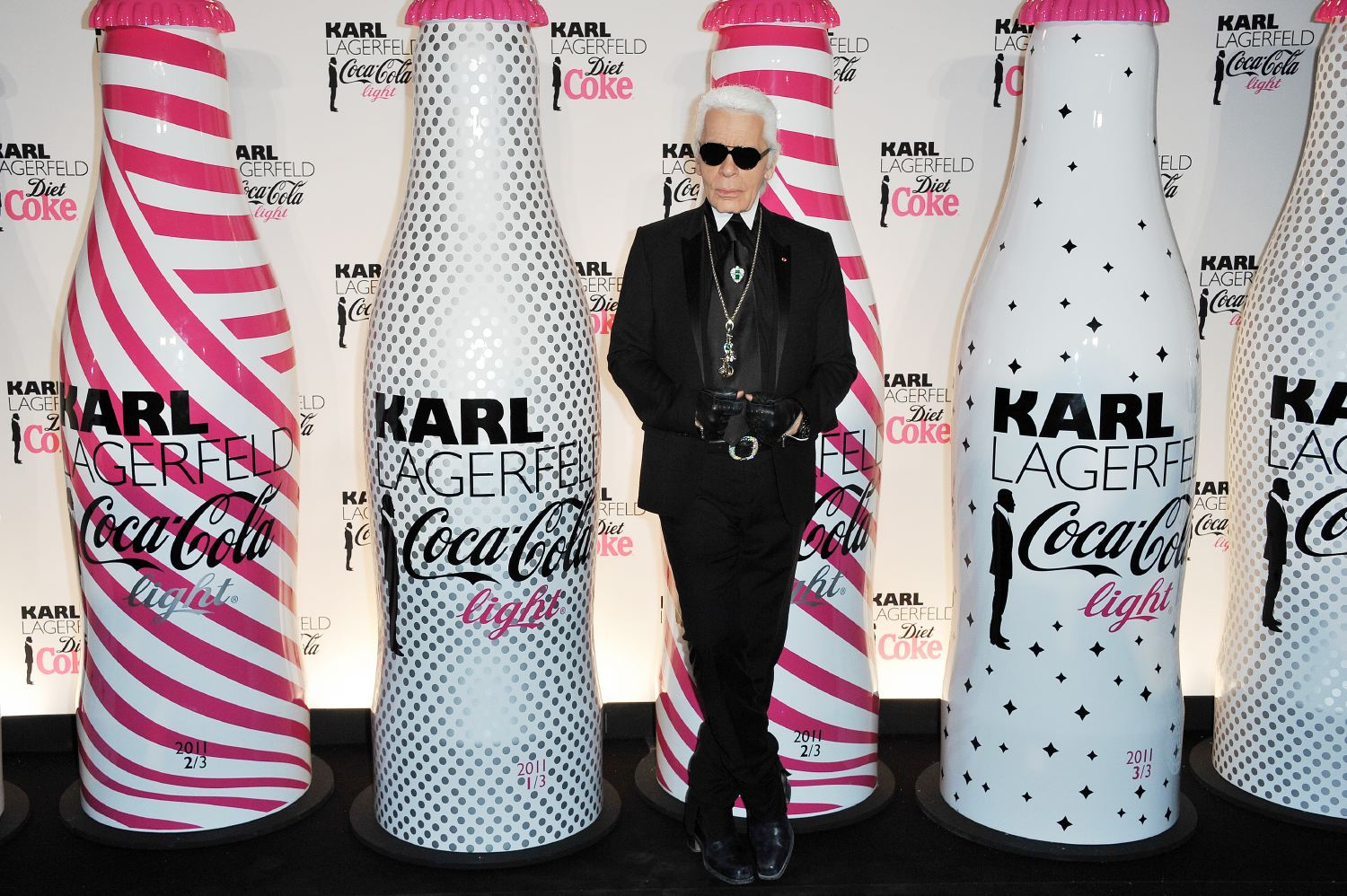 karl lagerfeld diet coke launch paris 2011