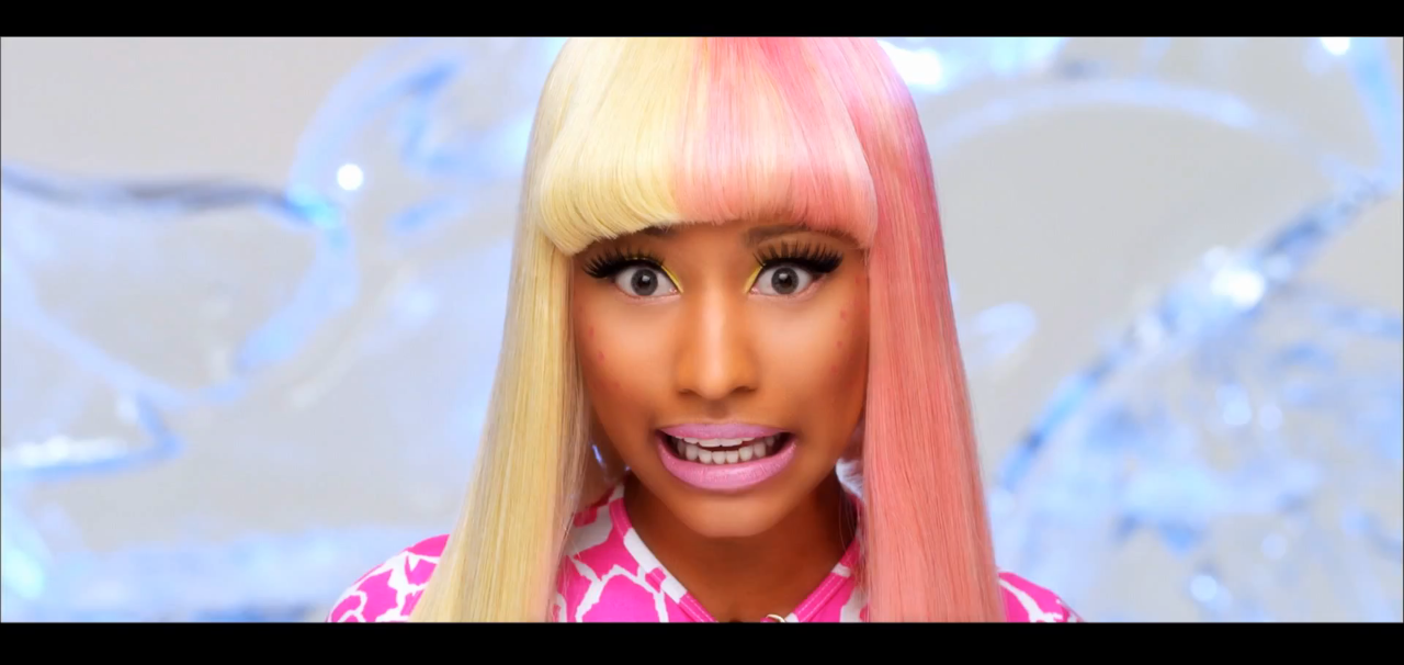 nicki minaj super bass makeup. nicki minaj super bass album.