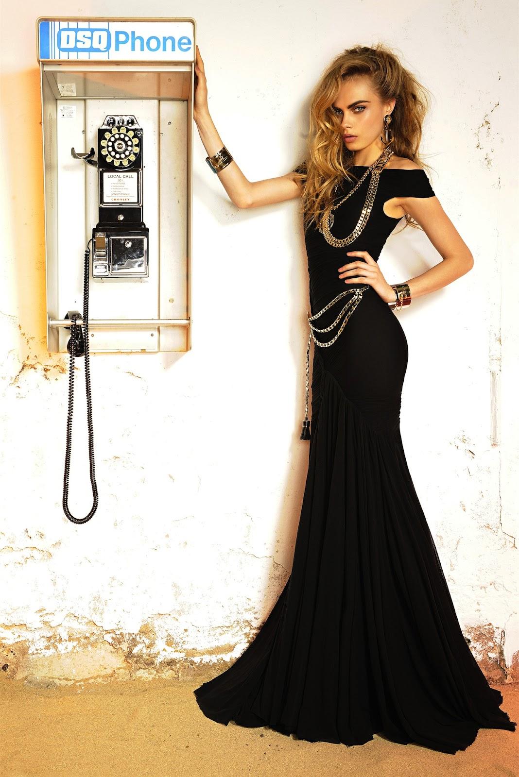 Образ в длинном черном платье