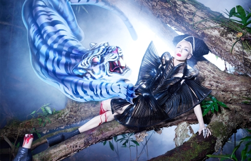 Daphne Guinness by David LaChapelle (Slow Burn - Harper's Bazaar China December 2012) 3