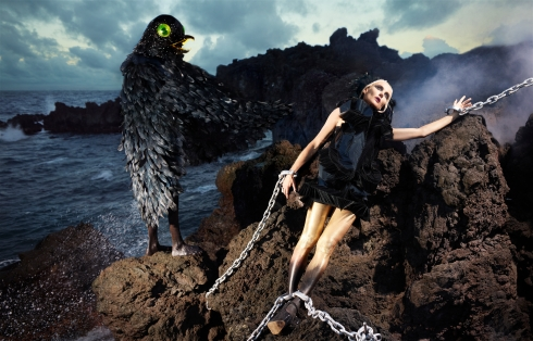 Daphne Guinness by David LaChapelle (Slow Burn - Harper's Bazaar China December 2012) 6